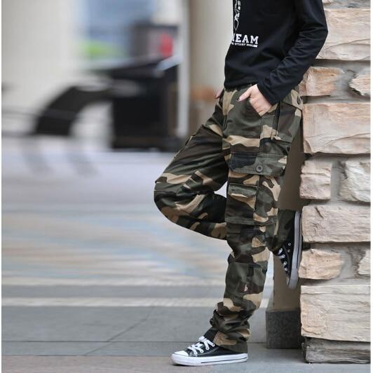 Sportwear Jungle Army Fatigue Camouflage Cargo Pants Plus Size Denim Pocket Hip Pop Dance Baggy Pant