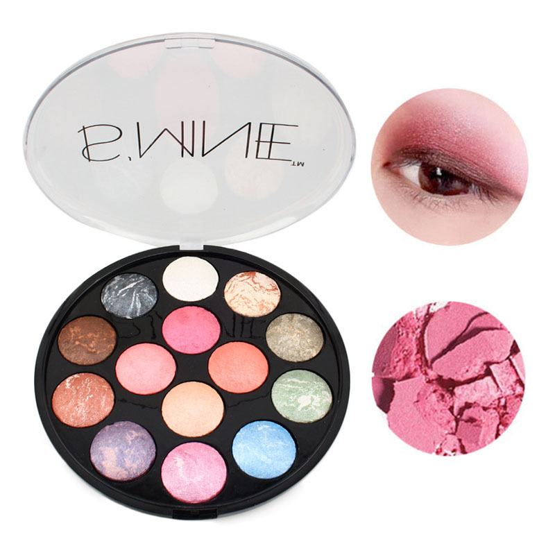 Sincere Eye Shadow Powder Palette Makeup Baked Shimmer Metallic Eyeshadow Long-lasting Easy To Wear Eye Make Up 14 Colors/set To Reduce Body Weight And Prolong Life Eye Shadow