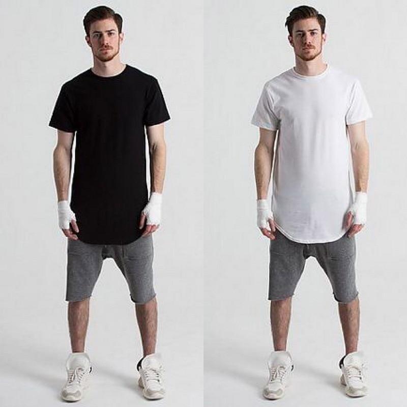 Short Sleeve Hip Hop T Shirt Men Swag Punk Style Man High Low Side Split Tee Tops Homme Brand Clothes Big M Xxl Cd0854 Shirt Folder Shirt Styles For Menshirt Bag Aliexpress