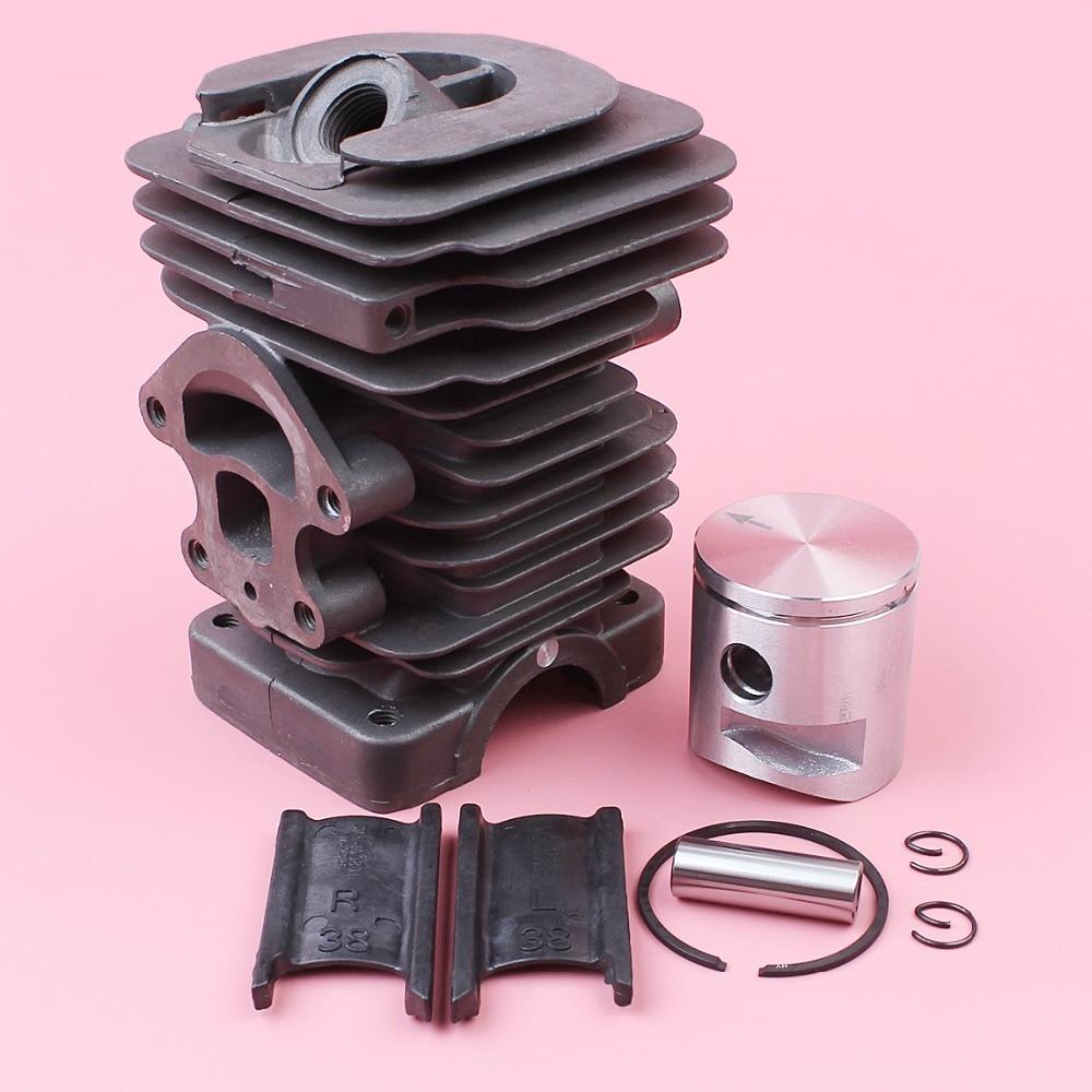 39mm Cylinder Piston Ring Pin Circlip Kit For Husqvarna 235 236 236E 240 240E Chainsaw Spare Parts 545050417 38mm om36 cylinder kit fits efco oleo mac om emak 436 sparta 36 37 om38 trimmer zylinder w piston ring pin clips assembly