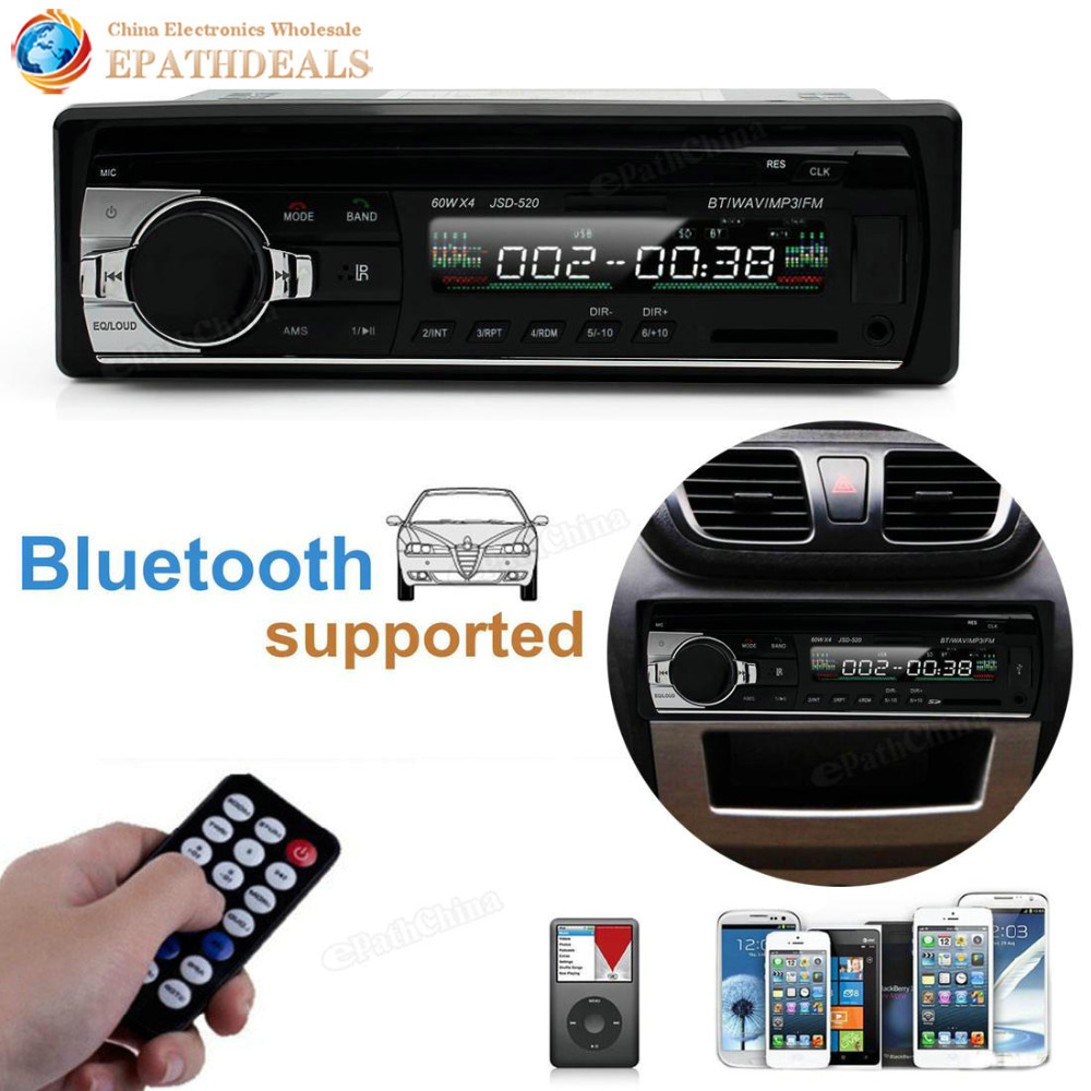 Digitale <font><b>Bluetooth</b></font> Hände frei Auto FM Radio Stereo Audio Musik MP3 Player/USB/SD mit In Dash Slot AUX Audio Eingang image