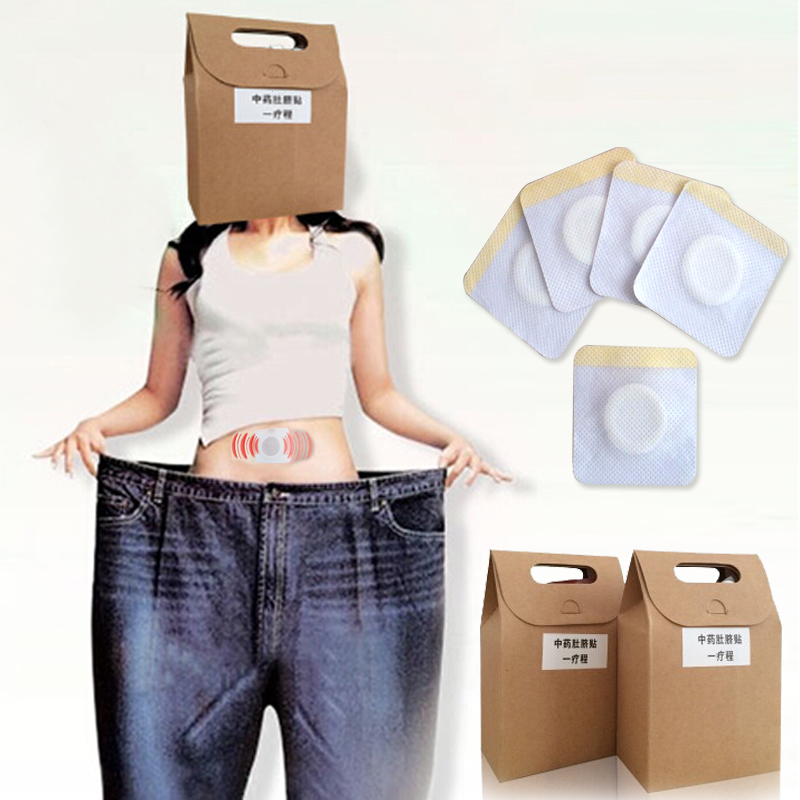 40Pcs/pack Slimming Patch Health Care Traditional Chinese Medicine Navel Stick Slim Patch Lose Weight Patch Fat Burning R3