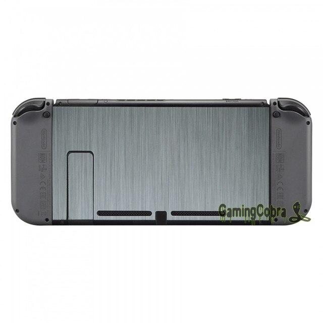Silver Skin Sticker Covers + 2 Pcs Glass Screen Protectors for Nintendo Switch Console Joy-con - YSNS0344+NSPJ0014GC 4