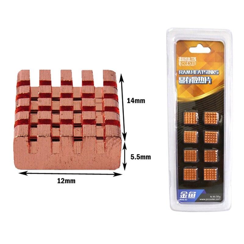 LOT OF 40 PCS Aluminum VGA Card Xbox360 DDR RAM Cooler self-adhesive Heatsink
