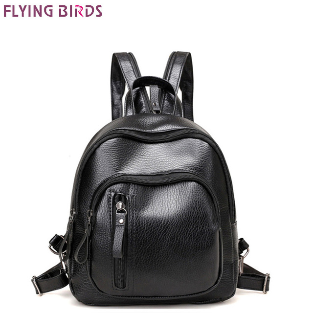 FLYING BIRDS mini Mochila women backpack leather backpacks teenage girl school  bags female travel bag high quality designer bag 2b9d309972fa6