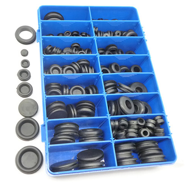 250x Seal Rings Wiring Grommets Cable Hole Rubber Open