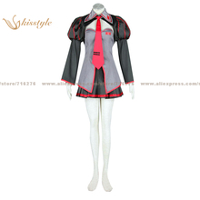 Kisstyle Fashion VOCALOID Zatsune Miku Uniform COS Clothing Cosplay Costume,Customized Accepted