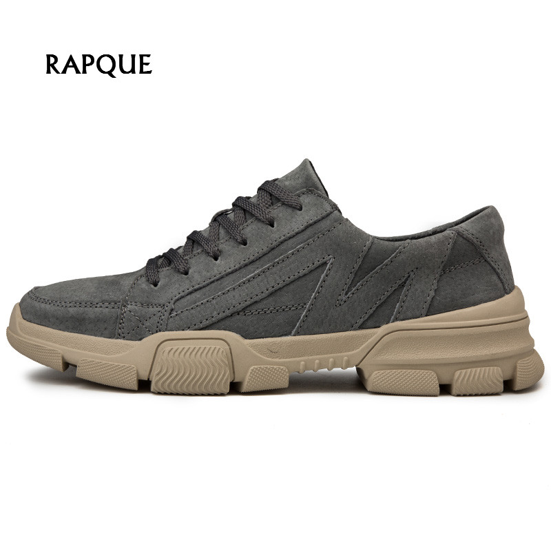 Mens Platform shoes genuine leather casual shoes men fashion sneakers male lace-up popular mans footwear gray begin blackMens Platform shoes genuine leather casual shoes men fashion sneakers male lace-up popular mans footwear gray begin black