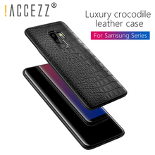!ACCEZZ Luxury Ultra Thin Soft Case For Samsung Galaxy S8 S9 Plus Note8 PC+PU Leather Fashion Protective Phone Back Cover Conque цена и фото
