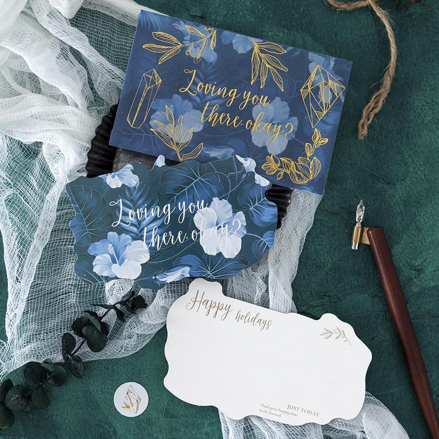 Flower Plants Sulfuric Acid Paper Writing Paper Envelope Translucent Envelope For Planner Organizer Wedding Letter Invitation