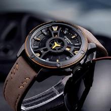 bf4cacbf037 Relógios homens EYKI Marca Top De Luxo Dupla Camada Esporte Militar Masculino  Relógio Relógio de Quartzo de Couro À Prova D  Águ.
