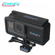 New 2300mAh Polymer Chargeable Outer Extension Battery BacPac Side Power Supply For GoPro Hero 5 6 Go Pro 7 Black Accessories