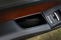 Acessórios Para Audi A4 B8 2008-2015 Inner Frente Porta Apoio de Braço Caixa de Armazenamento organizador de Bolso 2 pcs Esquerda-CARRO da movimentação da mão