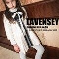 Lavensey Principios de Otoño Niños Niñas Cardigan Mono Encantador de Encaje de Color Rosa Vestido de la Muchacha Linda Del Bowknot Niños Ropa Para Niños Ropa