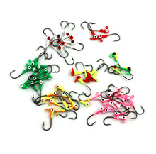Hengjia 100pcs Jig head Big Eye 1G mixed color Fishing Lead lures Mini headed hook fishing jigging bait fishing tackle