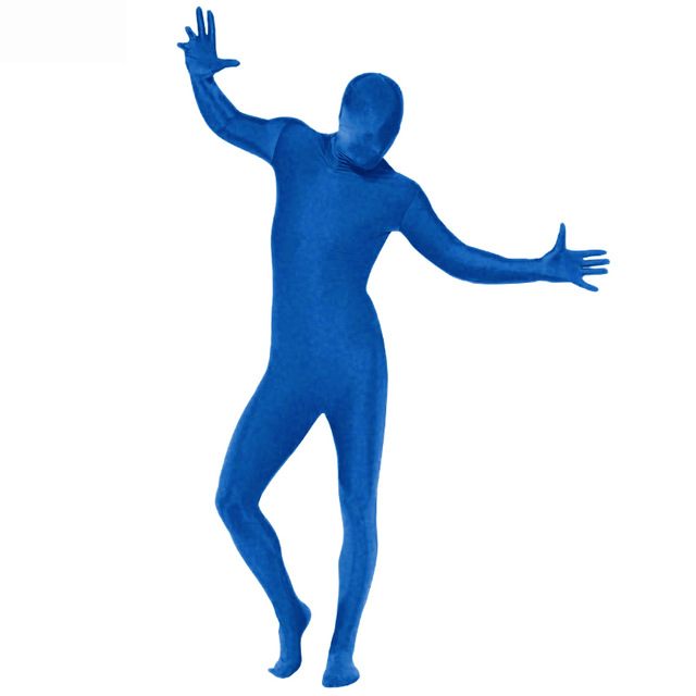 LZCMsoft Men Lycra Spandex Zentai Suit Halloween Full Bodysuits Second Skin Tights Stretch Jumpsuit Adult Catsuits