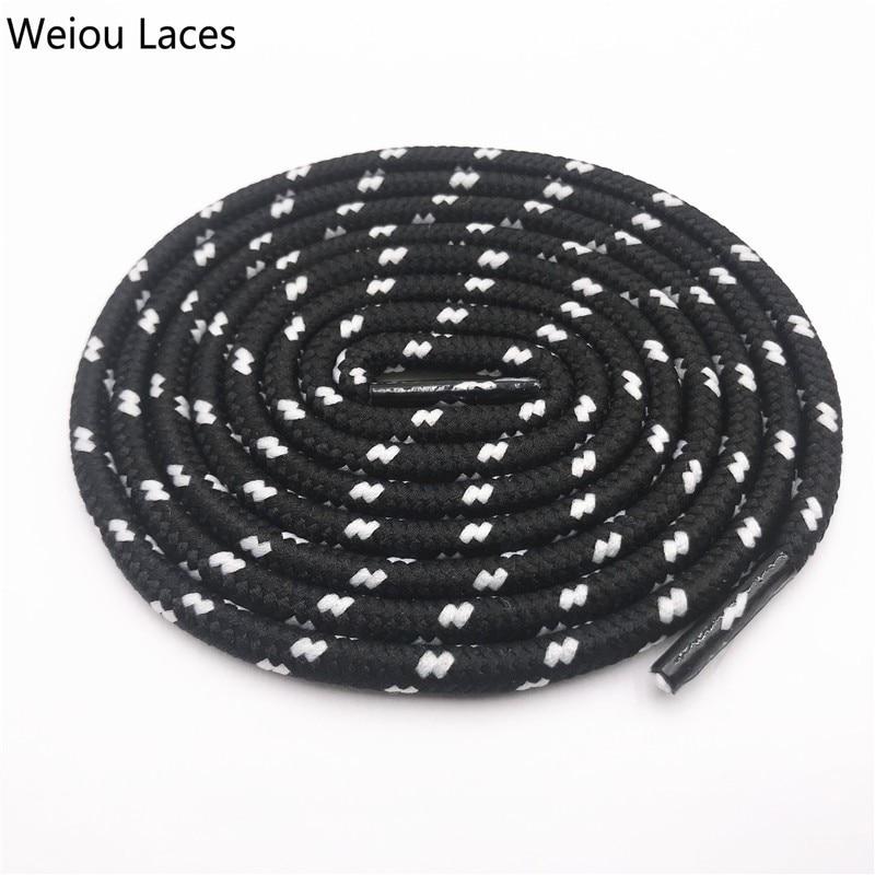 Coolstring 0,45 см уличные унисекс повседневные круглые полосатые спортивные шнурки с точками шнурки для Dorky Dad обувь шнурки - Цвет: 2541Black-White