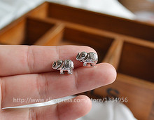 New 20pcs/lot Wholesale Charm Cute Elephant Shaped Metal Beads Spacer Beads Fit European jewelry Making DIY