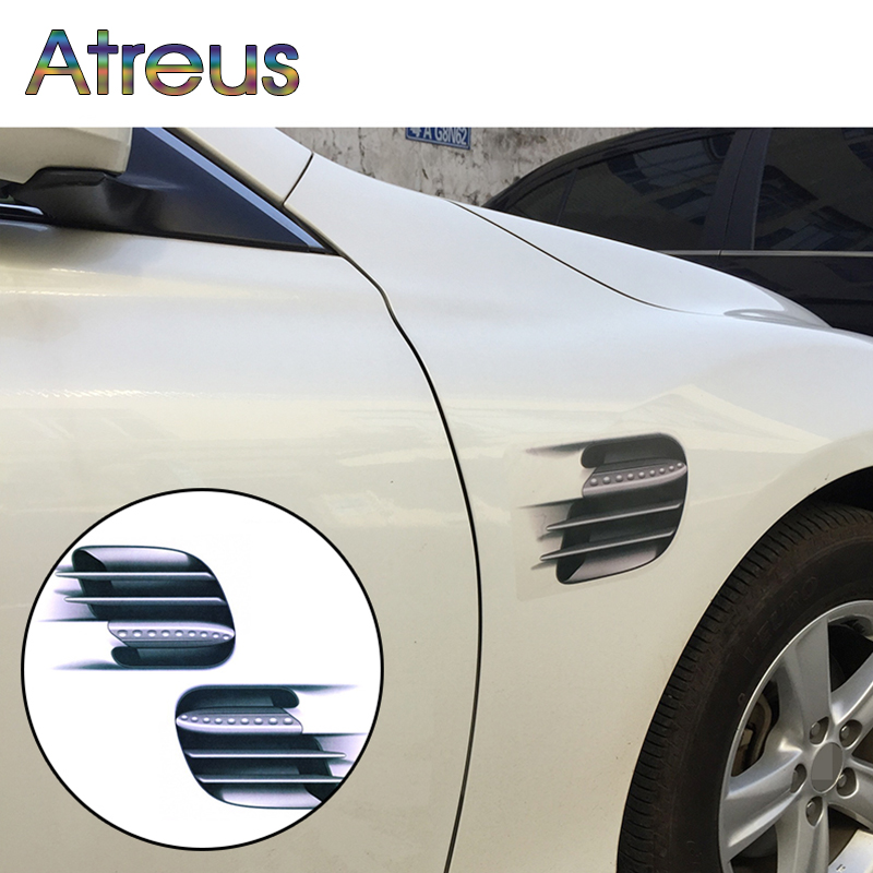 Atreus 3D Simulation Car Styling Stickers For VW Polo Jetta Toyota Corolla Mercedes W203 Saab Renault Dacia Duster Accessories