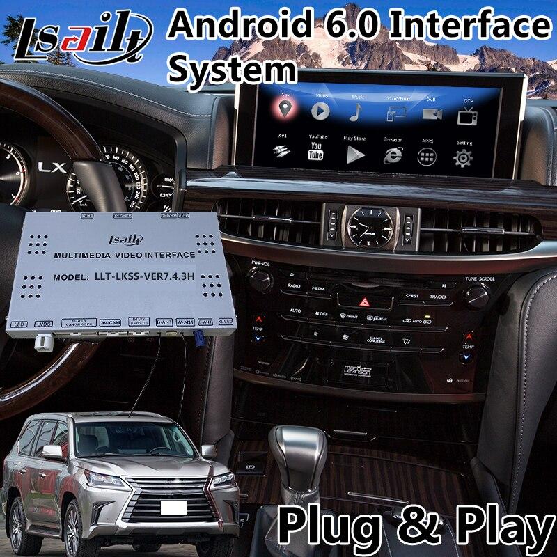 Android 6.0 Auto Vidéo Interface pour Lexus LX 570 450d avec Contrôle De la Souris 2016-2018, GPS Navigation Waze Mirrorlink
