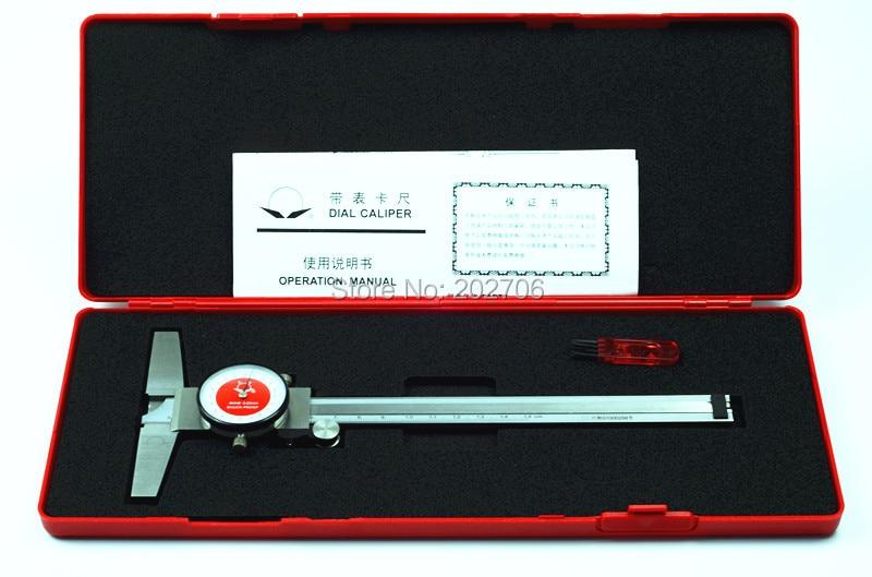 0-150 мм Глубина циферблата глубиномер штангенциркуль с циферблатом 6 дюймов