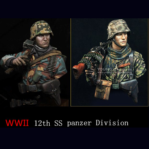 1/10 harz büste modell kit WWii 12th SS (2 teile/los) panzer Division Figur X100