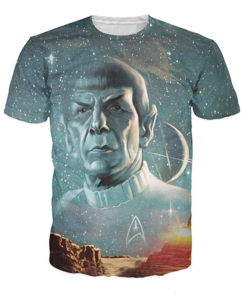 Sommer Stil tops Lange Leben und Prosper T-Shirt Star Trek Spock galaxy t sexy t-shirt für frauen männer plus größe freies verschiffen