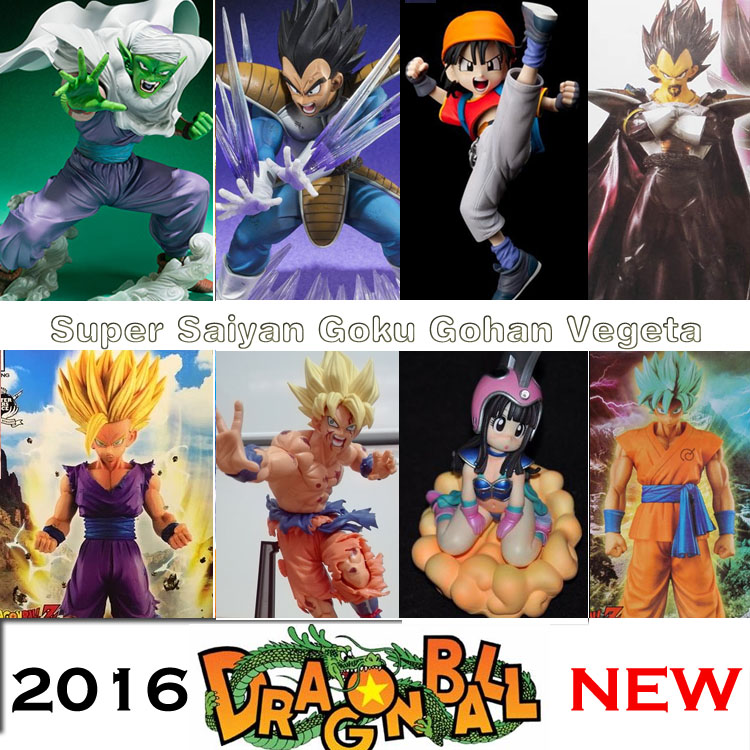 Dragon Ball Z Super Blue Hair Goku Vegeta PVC figura de acción dbz ChiChi Picollo Gohan Burdock modelo coleccionable juguete DragonBall