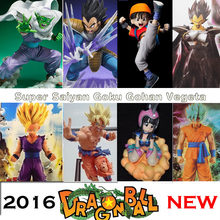 Dragon Ball Z Super cabelo azul Goku ChiChi Vegeta ação PVC figura dbz Gohan bardana Collectible modelo Toy DragonBall Picollo(China)