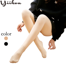 Autumn and winter pantyhose plus velvet thickening light leg with feet legs bottoming stockings