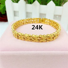 New Arrival Fashion Vintage Grind Word Pattern Luxury Design Gold for Womens Chain Bracelet Fine Jewelry