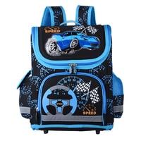 New 2017 Boys Schoolbags Kids Satchel Child School Backpack EVA Folded Orthopedic Children School Bags For