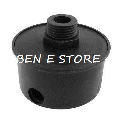 Compressor Parts  1/2 Female Thread 20mm Air Intake Filter Muffler Black cnbtr compressor 20mm male threaded air intake silencer filter black metal shell