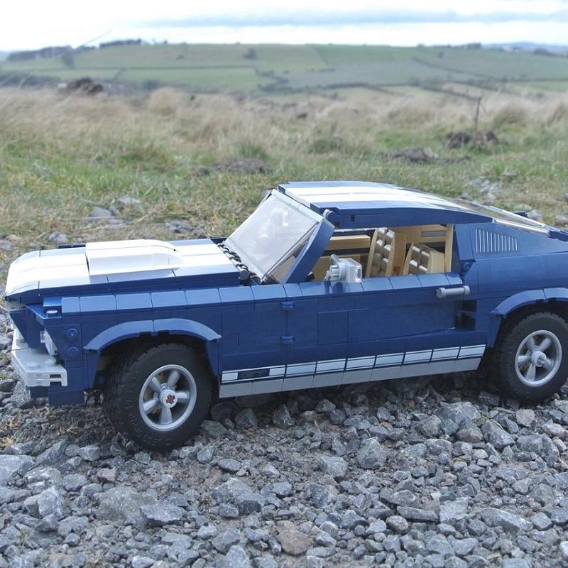 Creator Expert Ford Mustang Compatible Legoing Set Building Blocks Bricks Assembled DIY Toys Birthday Gifts