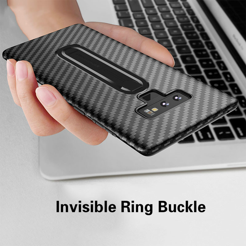 Carbon Fiber Case For Samsung Galaxy S10 S9 S8 S7 Plus Lite Luxury Silicone With Finger Ring Cover For Samsung Galaxy Note 9 8