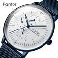 Fantor мужские часы с хронографом Топ люксовый бренд сетка сталь кварцевые наручные часы для мужчин s водонепроницаемые часы люксури relogio masculino