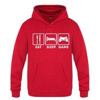 Eat Sleep Game XBOX Gamer Personality Sweatshirts Men 2018 Mens Hooded Fleece Pullover Hoodies