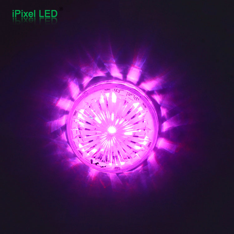 Diameter 55mm Ferris Wheel led Cabochon Auto RGB Pixel IP65 LED Funfair light RGB amusement led