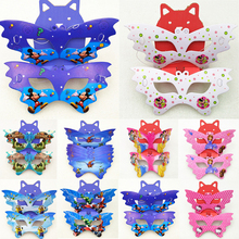 10pc/set Moana Mickey Minnie Sofia Princess Avengers Minions Birthday Party Supplies Paper Mask Decoration