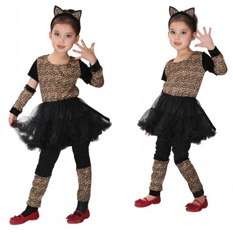 b5ba5a22ccb9 Cheap Disfraces niñas niños gato Kitty Cosplay Anime mascarada fantasía  navidad regalo animales Disfraces leopardo niños