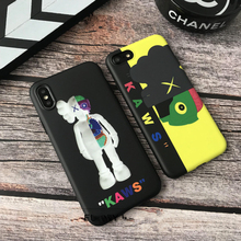 Trend KAWS Dissected Companion action figures toys original fake soft phone case for iphone 6 6s 6plus 7 7plus 8 plus X cover