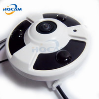 720p Panoramic WIFI Ip Camera Network PTZ View 180degree Panoramic Ip Camera Wide Angle HI3518E Housing