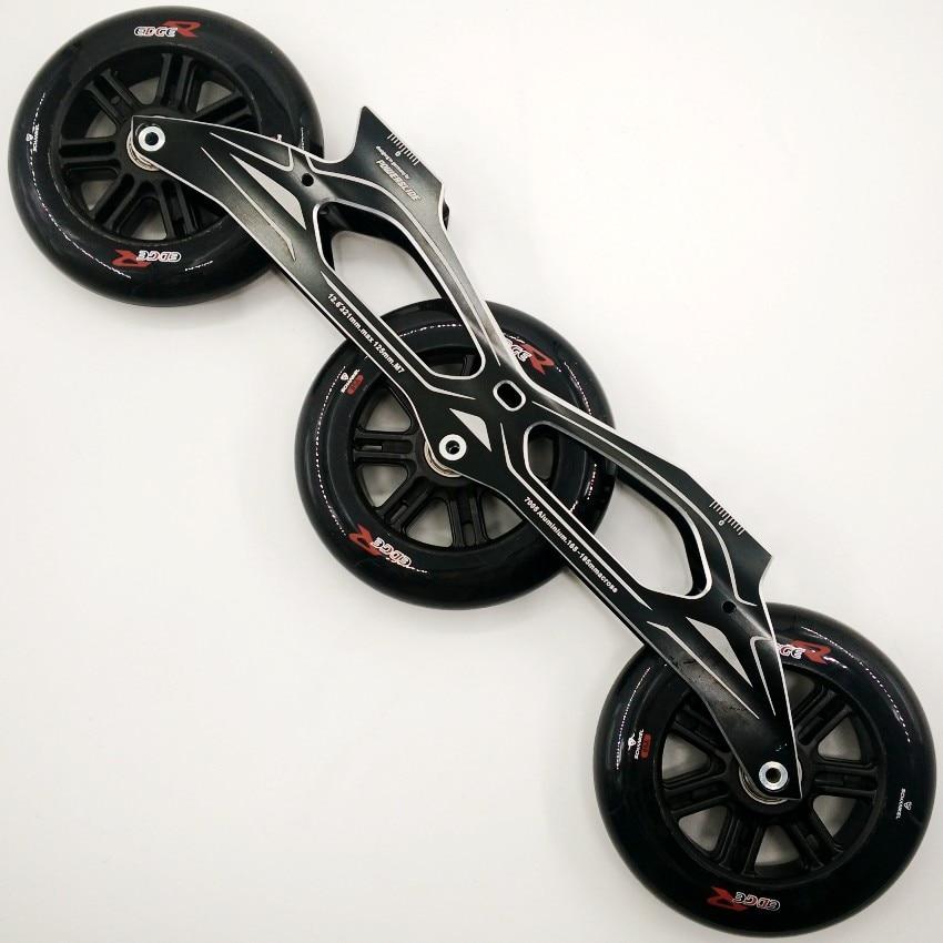 inline speed skate wheels 120mm inline skates Frame 3X125mm super-strength black wheels for skates цена и фото