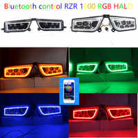 Polaris RZR 1000 Headlight RGB Halo angel eyes with bluethooth phone by app contorl fits RZR1000 Polaris 2016 RZR XP TURBO