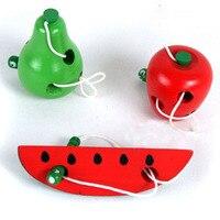 Educação de madeira do bebê jardim de infância mouse linha queijo brinquedos de aprendizagem precoce montessori auxiliares ensino matemática brinquedo b0916