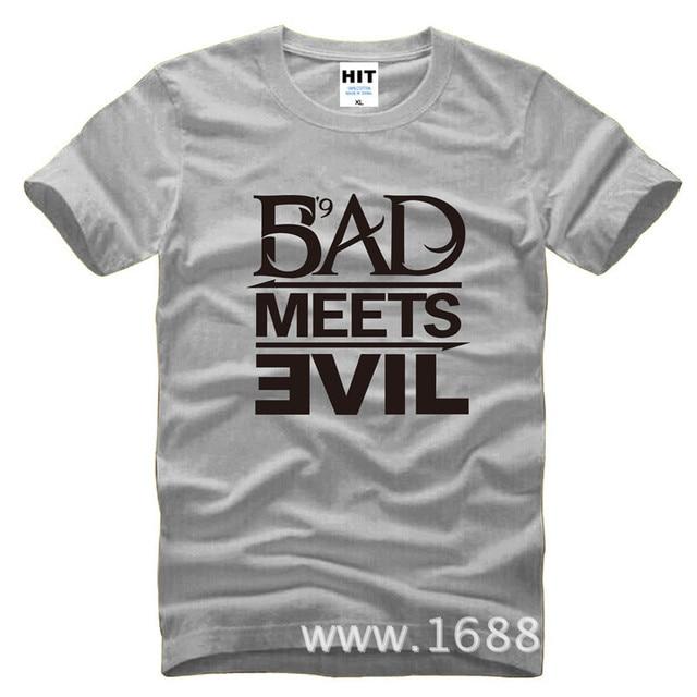Eminem Bad Meets Evil rap rock Men's T-Shirt T Shirt For Men 2015 New Short Sleeve Cotton Casual Top Tee Camisetas Masculina 8