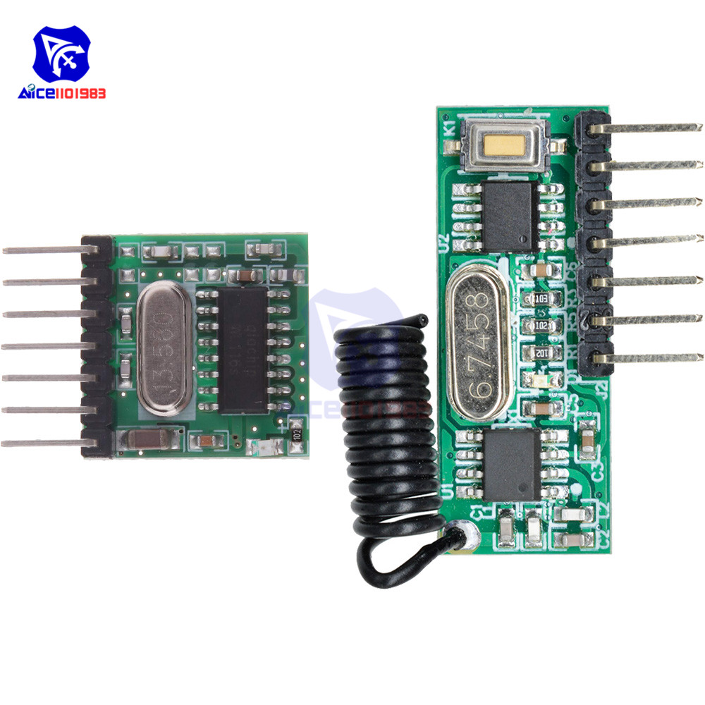 TX118SA-4 Wireless Wide Voltage Coding Transmitter RX480E-4 Decoding Receiver 4 Channel Output Module For 433Mhz Remote Control