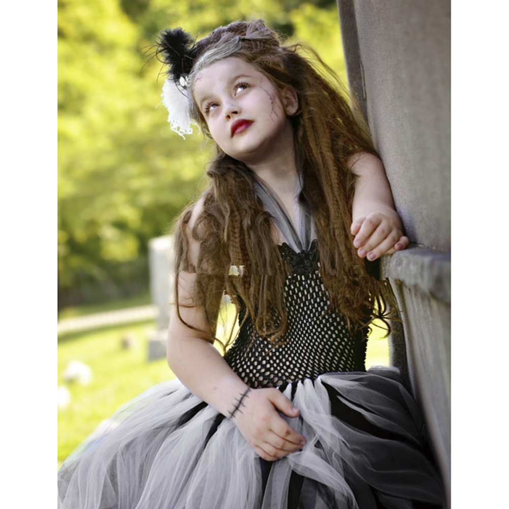bride of frankenstein tutu dress halloween costume kids girls