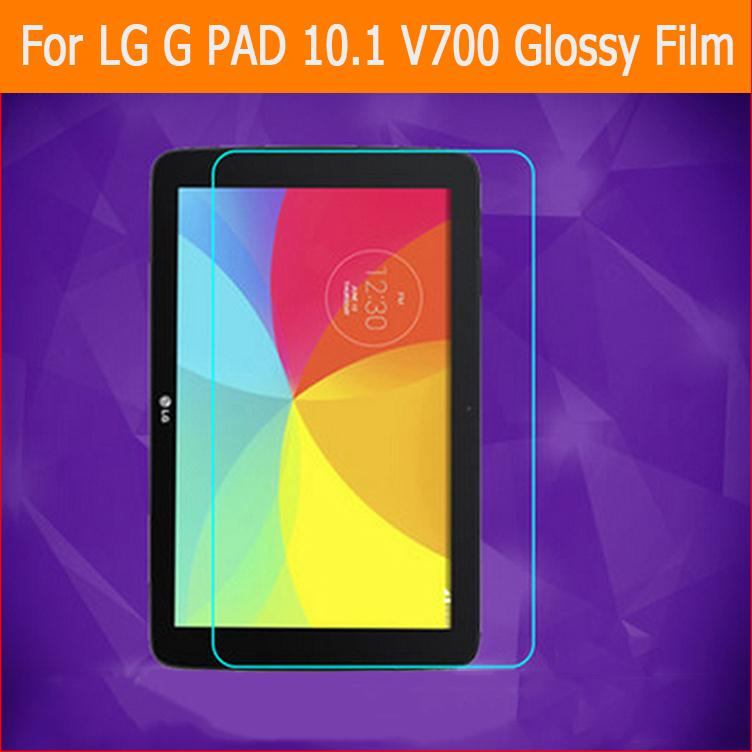 High Clear Glossy Screen Protector Film For LG G PAD 10.1 V700 Tablet Front HD Lcd Screen Protective Films With Clean Cloths