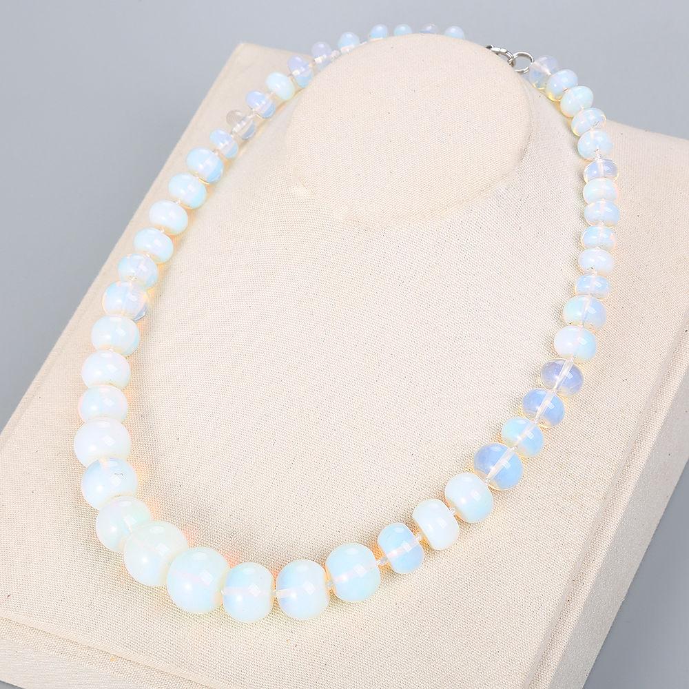 Opal Natural Stone Gemstone Necklace Crystal Choker Charm Chain Reiki Vintage Women Men Fine Jewelry Pendant Moonstone Pendant цена и фото